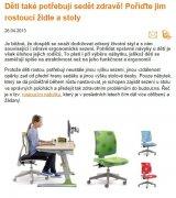 Děti také potřebují sedět zdravě! Pořiďte jim rostoucí židle a stoly.